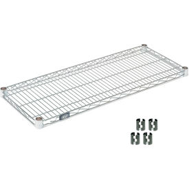 """Nexel S2436Z Poly-Z-Brite Wire Shelf 36""""W x 24""""D with Clips"""
