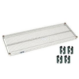 """Nexel S2472Z Poly-Z-Brite Wire Shelf 24""""W x 72""""D with Clips"""