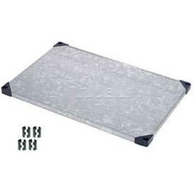 Nexel® Solid Galvanized Shelf 36 x 18 with Clips