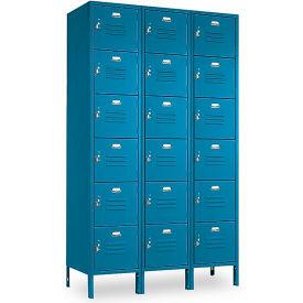 Penco 6367V3806SU Vanguard Locker Six Tier 12x15x12 18 Doors Assembled Marine Blue