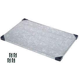 Nexel® Solid Galvanized Shelf 60 x 24 with Clips