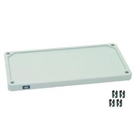 "Nexel S1836SP Solid Plastic Shelf 36""W x 18""D with Clips"