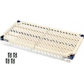 "Nexel PM2454N Vented Plastic Mat Shelf 54""W x 24""D Nexelon with Clips"