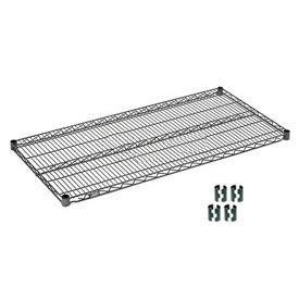 """Nexel S2448N Nexelon Wire Shelf 48""""W x 24""""D with Clips"""