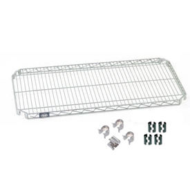 """Nexel S1436AC Quick Adjust Wire Shelf 36""""W x 14""""D with Hooks and Clips"""