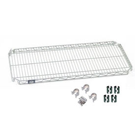 """Nexel S1872AC Quick Adjust Wire Shelf 72""""W x 18""""D with Hooks and Clips"""