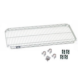 """Nexel S2448AC Quick Adjust Wire Shelf 48""""W x 24""""D with Hooks and Clips"""
