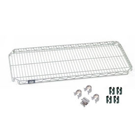 "Nexel S2460AC Quick Adjust Wire Shelf 60""W x 24""D with Hooks and Clips"
