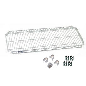 "Nexel S2472AC Quick Adjust Wire Shelf 72""W x 24""D with Hooks and Clips"