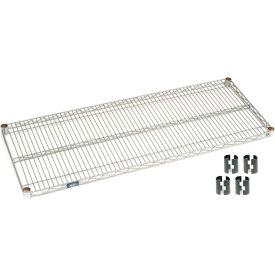 "Nexel S1848S Stainless Steel Wire Shelf 48""W x 18""D with Clips"