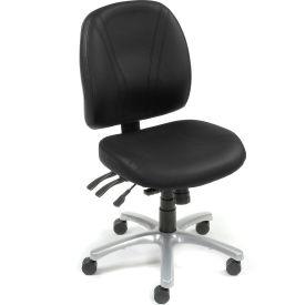 Antibacterial Office Chair - Vinyl - Black