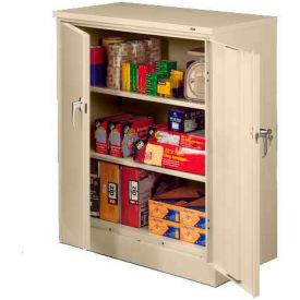 Sandusky Classic Series Counter Height Storage Cabinet CA21362442-07 - 36x24x42, Putty- Pkg Qty 1