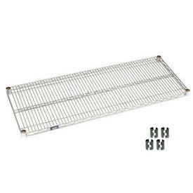 """Nexel S1472C Chrome Wire Shelf 72""""W x 14""""D with Clips"""