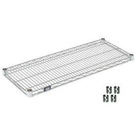 """Nexel S1842C Chrome Wire Shelf 42""""W x 18""""D with Clips"""