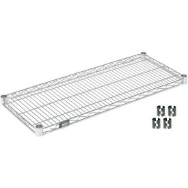 "Nexel S2124C Chrome Wire Shelf 24""W x 21""D with Clips"