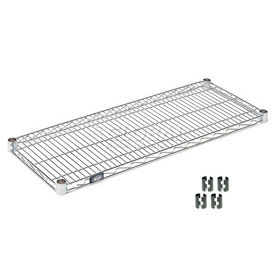 "Nexel S2130C Chrome Wire Shelf 30""W x 21""D with Clips"
