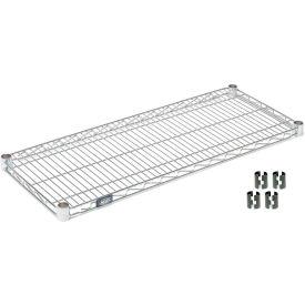 """Nexel S2430C Chrome Wire Shelf 30""""W x 24""""D with Clips"""