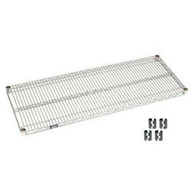 """Nexel S2442C Chrome Wire Shelf 42""""W x 24""""D with Clips"""