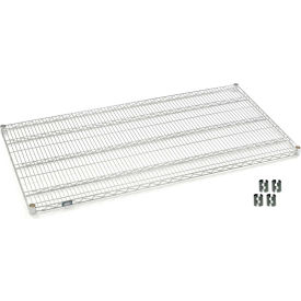 """Nexel S3036C Chrome Wire Shelf 36""""W x 30""""D with Clips"""