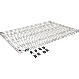 """Nexel S3048C Chrome Wire Shelf 48""""W x 30""""D with Clips"""