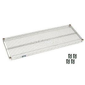 """Nexel S2172C Chrome Wire Shelf 72""""W x 21""""D with Clips"""