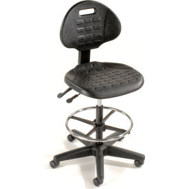 Ergonomic Stool - Polyurethane - 5 Way Adjustment - Black