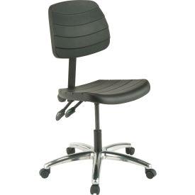 Polyurethane Chair - Mid Back - Black