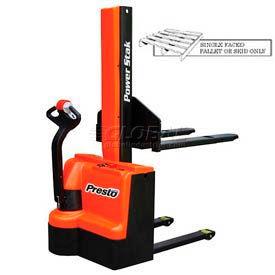 "PrestoLifts™ PowerStak™ Fully Powered Stacker PPS2200-62NFO-27 2200 Lb. 62"" Lift"