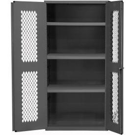 """Durham Heavy Duty Expanded Metal Mesh Door Cabinet EMDC-361860-95 - 14 Gauge 36""""W x 18""""D x 60""""H"""