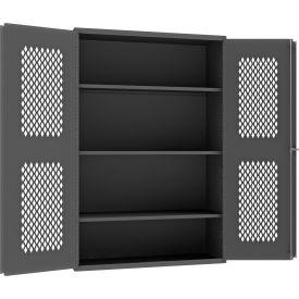 """Durham Heavy Duty Expanded Metal Mesh Door Cabinet EMDC-482472-95 - 14 Gauge 48""""W x 24""""D x 72""""H"""