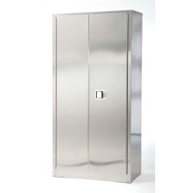 "Stainless Steel Storage Cabinet 36""W x 24""D x 84""H"