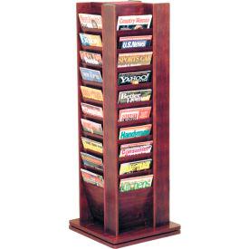40 Pocket Revolving Floor Display Mahogany