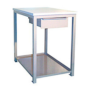 24 X 36 X 30 Drawer / Shelf Shop Stand - Maple - Blue