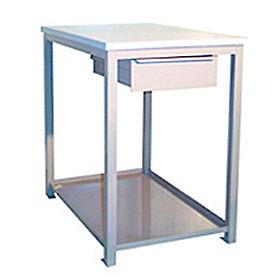 18 X 24 X 24 Drawer / Shelf Shop Stand - Plastic- Gray
