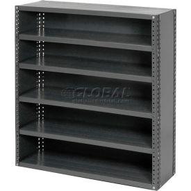 Steel Closed Shelving 6 Shelves No Bin - 36x18x39