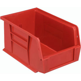 Quantum Plastic Storage Bin - Small Parts QUS221 6 x 9-1/4 x 5 Red - Pkg Qty 12