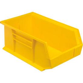 Quantum Plastic Storage Bin - Parts Storage Bin QUS241 8-1/4 x 13-5/8 x 6 Yellow - Pkg Qty 12