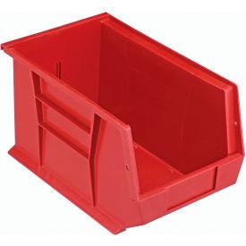 Quantum Plastic Storage Bin - Small Parts QUS242 8-1/4 x 13-5/8 x 8 Red - Pkg Qty 12