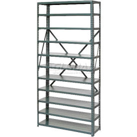 """Open Style Steel Shelf With 11 Shelves No Bins 36""""Wx12""""Dx73""""H Ready To Assemble"""