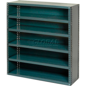 "Closed Style Steel Shelf With 6 Shelves No Bins 36""Wx12""Dx39""H Ready To Assemble"
