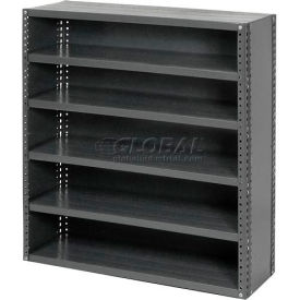 """Closed Style Steel Shelf With 6 Shelves No Bins 36""""Wx18""""Dx39""""H Ready To Assemble"""