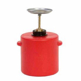 Eagle Safety Plunger Can - 4 Quart Polyethylene, P-714