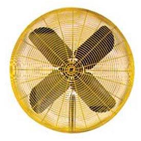 TPI 24 Fan Head Non Oscillating Yellow HDH24 1/2 HP 5600 CFM