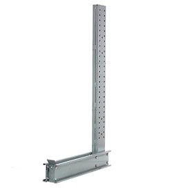 "Cantilever Rack Single Sided  Upright, 14' H x 76""  D 14600, Lbs Capacity"