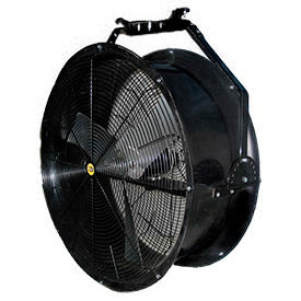 "J&D 24"" Black Poly Chiller Drum Fan With Bracket VPRF24 1/2 HP 4890 CFM"