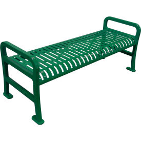 "72"" Roll Formed Diamond Flat Bench - Green"