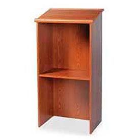 "Stand-Up Podium / Lectern, 23""W X 15-3 / 4""D X 45-7 / 8""H, Medium Oak"