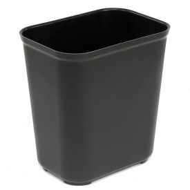 Rubbermaid 7 Gallon Fire Resistant Fiberglass Wastebasket - Black