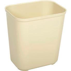 Rubbermaid 7 Gallon Fire Resistant Fiberglass Wastebasket - Beige