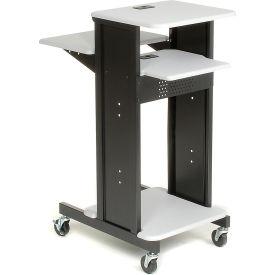 Global Industrial™ Projector Presentation Cart - Gray/Black